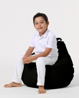 Earmut Premium Çocuk Armut Koltuk Siyah